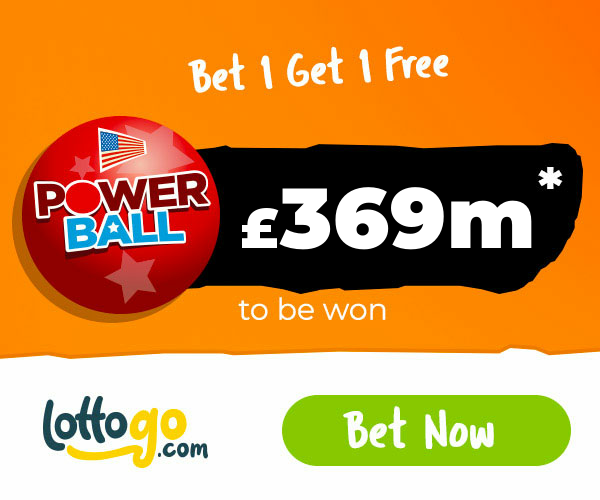 US Powerball Bet 1 Get 1 Free