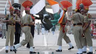 Wagah border crossing between India and Pakistan (file photo)