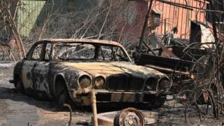 burned out jaguar