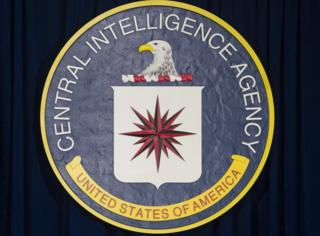 The seal of the Central Intelligence Agency (CIA) is seen at CIA Headquarters in Langley, Virginia, April 13, 2016